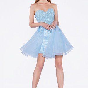Sweetheart Neck Strapless Short Dress CDA5085